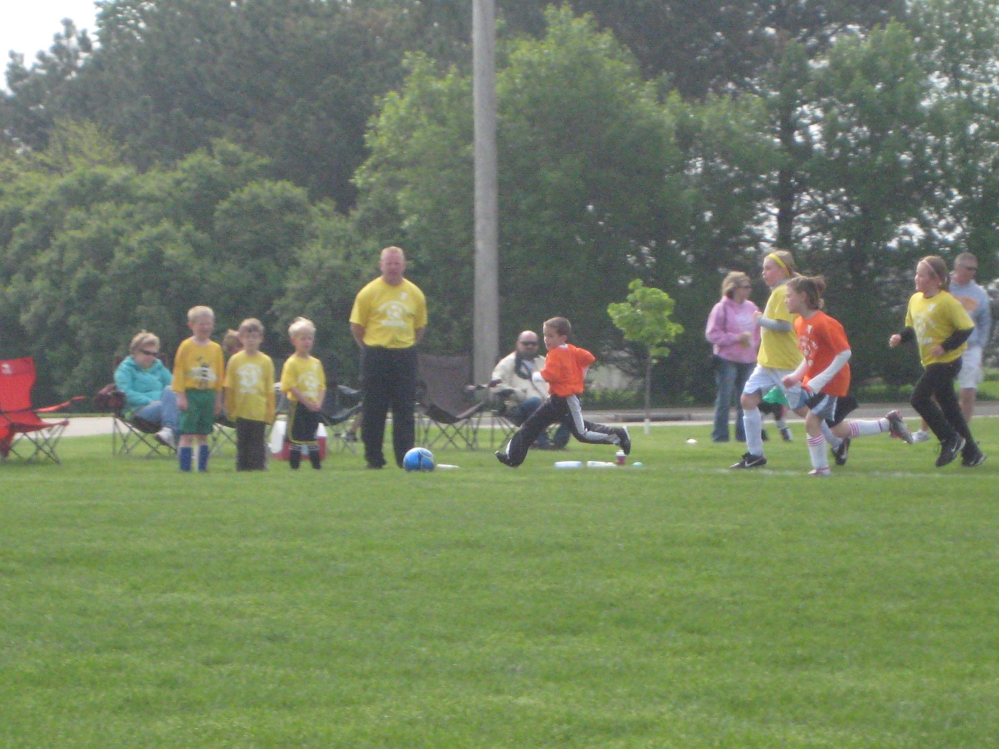 U-8 Soccer action
